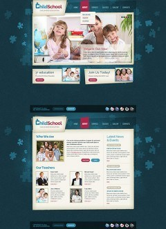 Child School HTML5 template