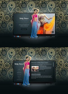 Belly Dance HTML5 template