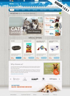 Pets Store OpenCart template