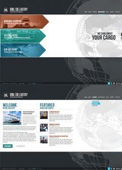 Delivery Company HTML5 template