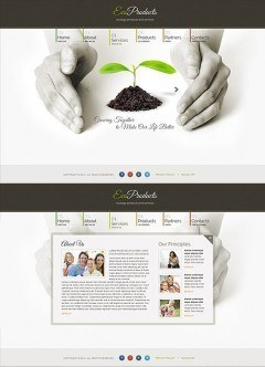 Ecology Products HTML5 template