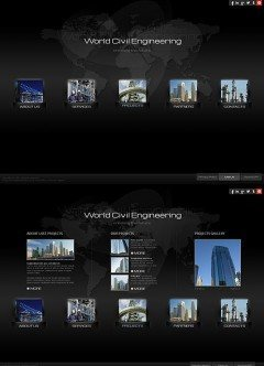 Civil Engineering HTML5 template