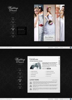 Wedding Dresses HTML5 template