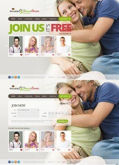 Dating Agency HTML5 template