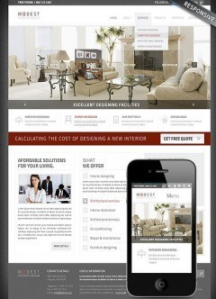 Interior Designing Wordpress template