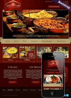 Indian Restaurant Bootstrap template