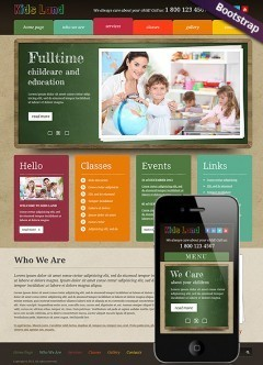 Kids Land Bootstrap template