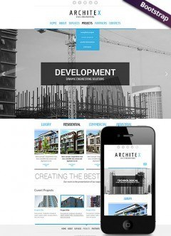 Build and construct Bootstrap template
