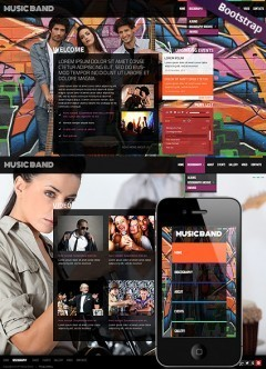 Music Band Bootstrap template