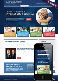 Insurance Bootstrap template