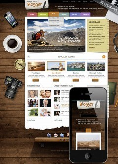 Blogger Wordpress template