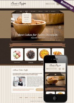 Cake Caffe Bootstrap template