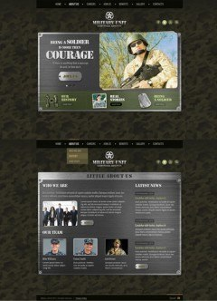 Military Unit HTML5 template