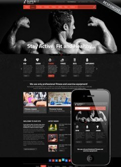 Fitness club v3 Joomla template