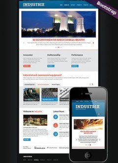 Heavy Industry  Bootstrap template