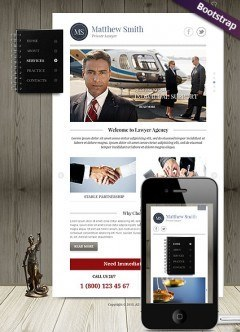 Private Lawyer Bootstrap template