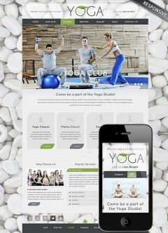 Yoga Club Wordpress template