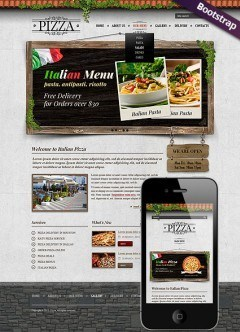 Pizza Bootstrap template
