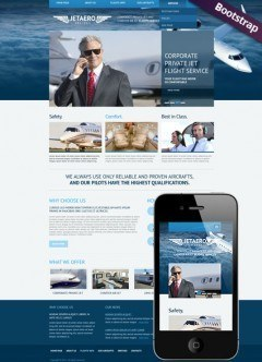Private Airline Bootstrap template