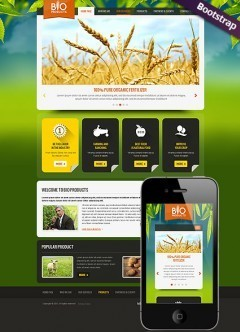 Eco Agriculture Bootstrap template