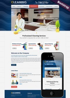 Cleanin Bootstrap template