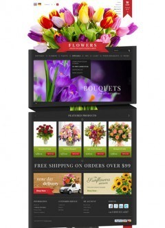 Flowers Shop OpenCart template