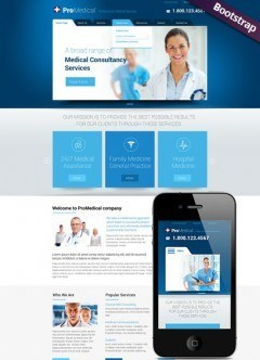 Medical Service Bootstrap template