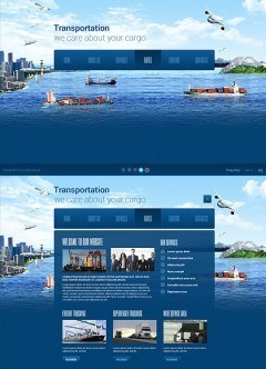 Transportation Paralax HTML5 template