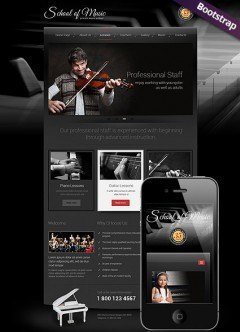 Music School Bootstrap template