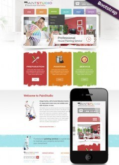 House Painting Bootstrap template