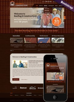 Roofing and construction Bootstrap template