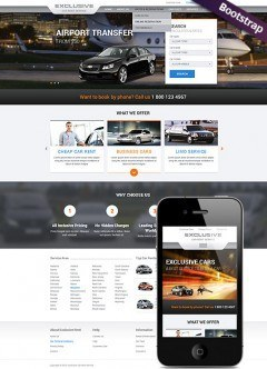 Rent a Car Bootstrap template