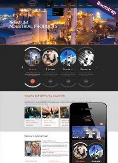Industry Power Bootstrap template
