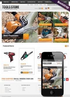 Tool Store OpenCart template