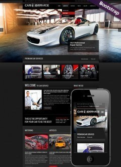 Car service Bootstrap template