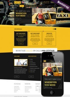 Taxi Service Bootstrap template