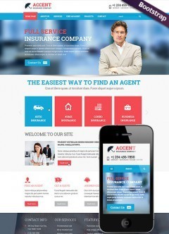 Insurance company Bootstrap template