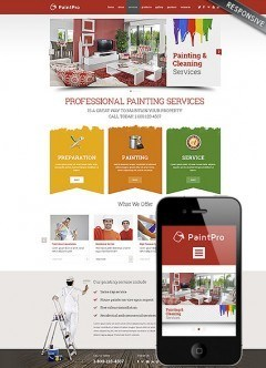 Painting co Wordpress template