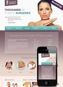 Plastic surgery Bootstrap template