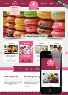 Cake shop Bootstrap template