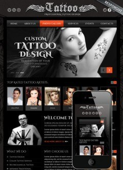 Tattoo design Bootstrap template