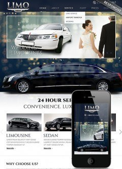 Limo Service Bootstrap template