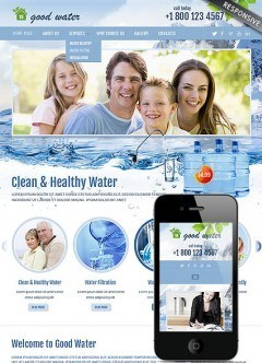 Good water Bootstrap template