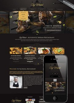 Indian restaurant Wordpress template