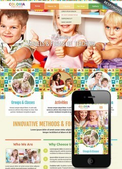 Kids studio Bootstrap template