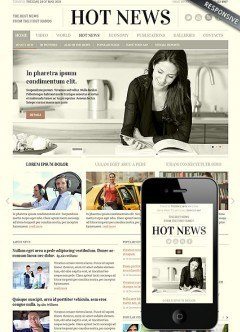 Newspaper Bootstrap template