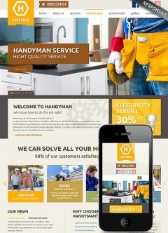 Handyman Service Bootstrap template