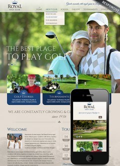 Golf club Bootstrap template