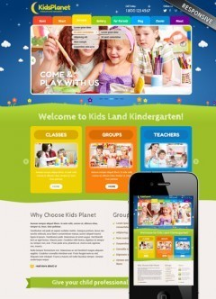 Kids Planet Wordpress template