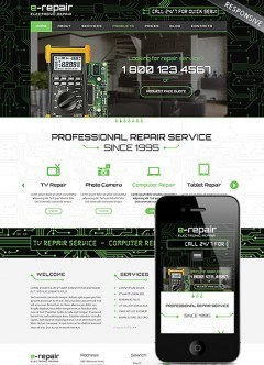electronic repair Wordpress template